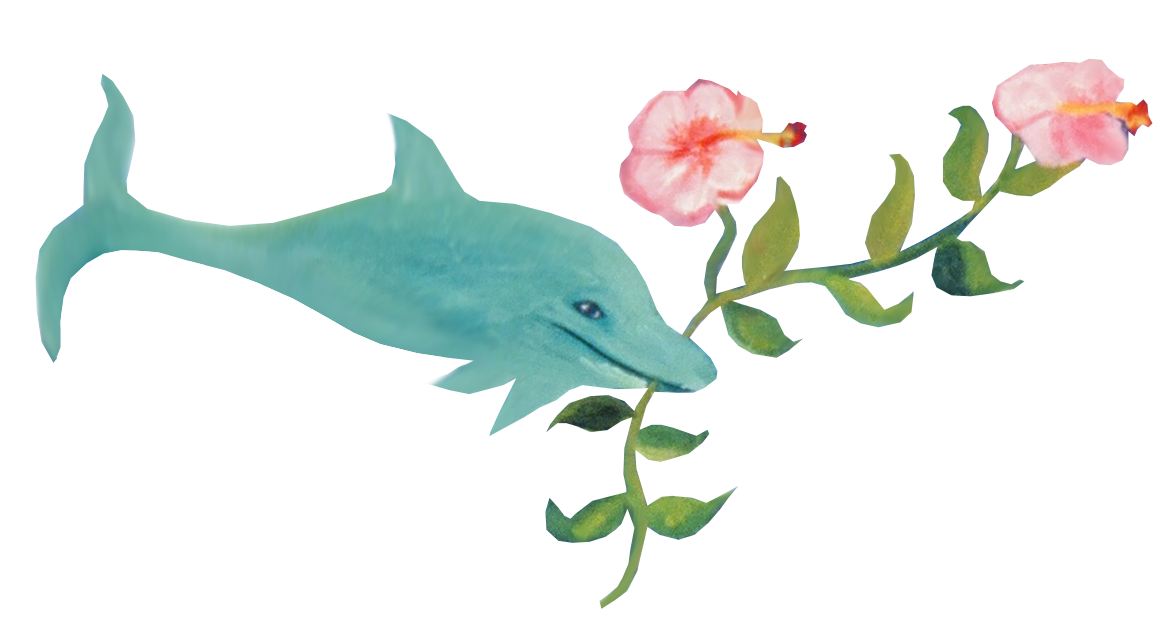 dolphinwith-flower