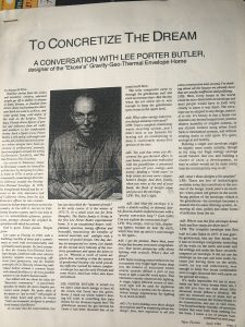 New Florida interview Lee Porter Butler Page 1