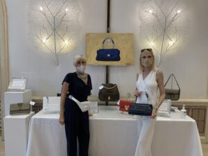 Jill and Tiffany at Old Bags Luncheon